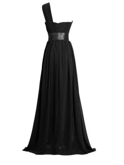 Pretty Sweetheart Neckline One Shoulder A-Line Gown Dress for Evening