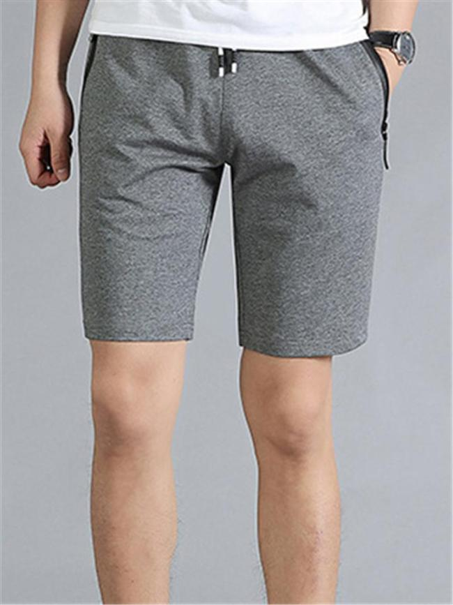 Fashion Sports Casual Breathable Knee Shorts With Zipper Pockets