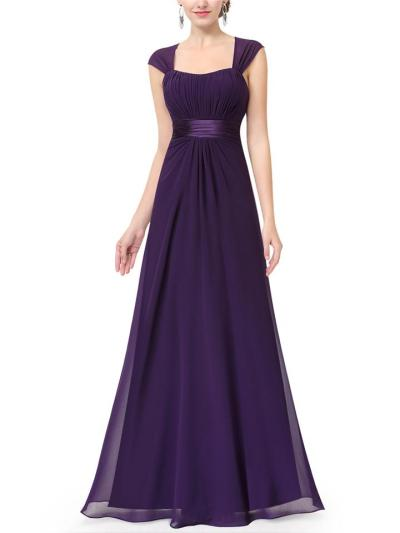 Elegant A Line Backless Fitted Waist Maxi Dress for Evening Party