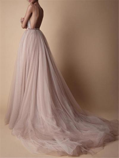 Pretty Applique A Line Tulle Maxi Dress for Prom