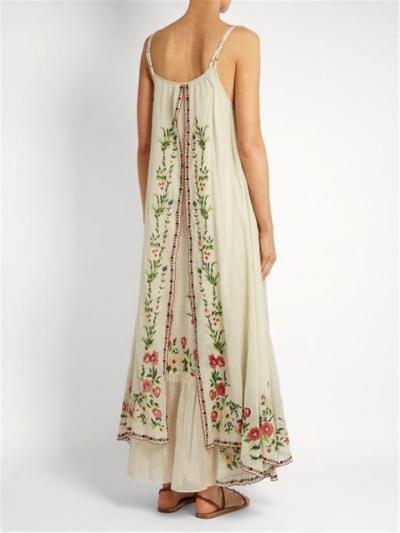 On-Trendy Flowy Scoop Neck Floral Print Spaghetti Strap Layered Maxi Dress