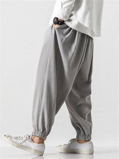 Fashion Loose Lightweight Plain Pants