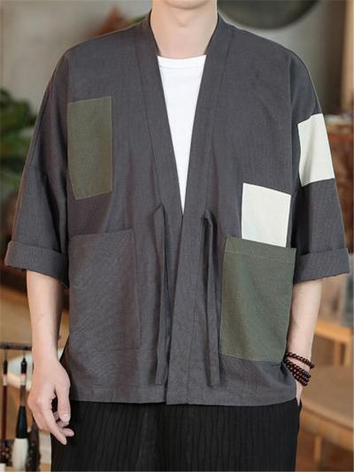 Fashion Casual Thick Patchwork Short Sleeve Coats