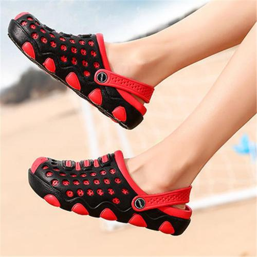 Breathable Hollow Out Patchwork Wearable Sandals