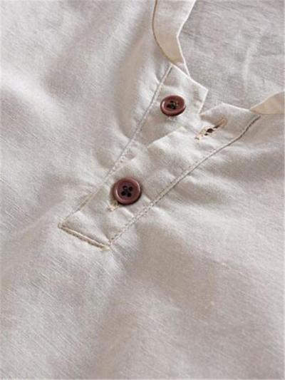 Vintage Comfy Loose Casual Cotton&Linen Short Sleeve T-Shirts