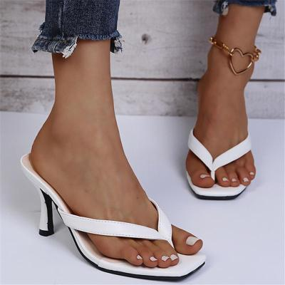 Feminine Design Thong Style Stiletto Heel Lightweight Flip Flops Sandals