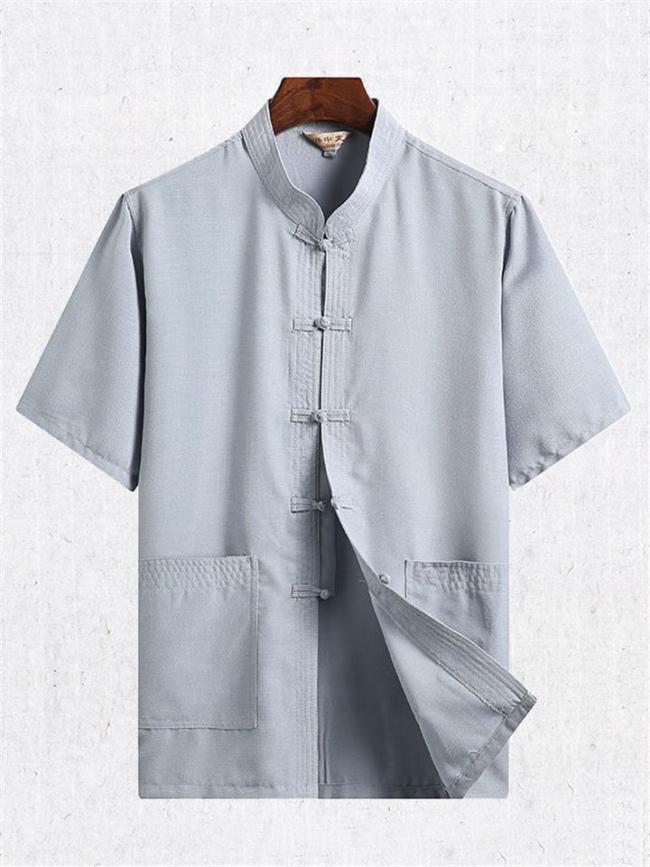 Comfy Cotton&Linen Retro Short Sleeved T-Shirts