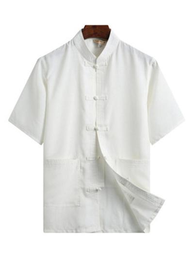 Comfy Cotton&Linen Retro Short Sleeved T-Shirts+Trousers