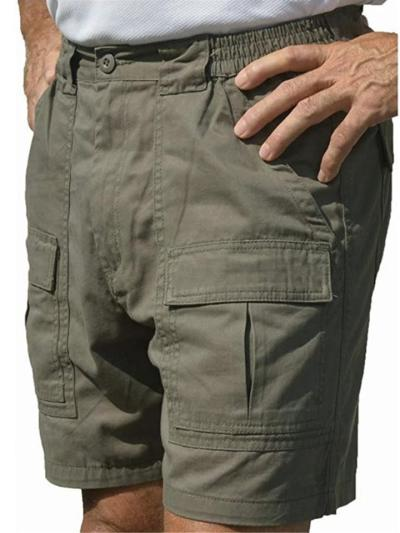 Outdoor Casual Cargo Knee Shorts With Pockets