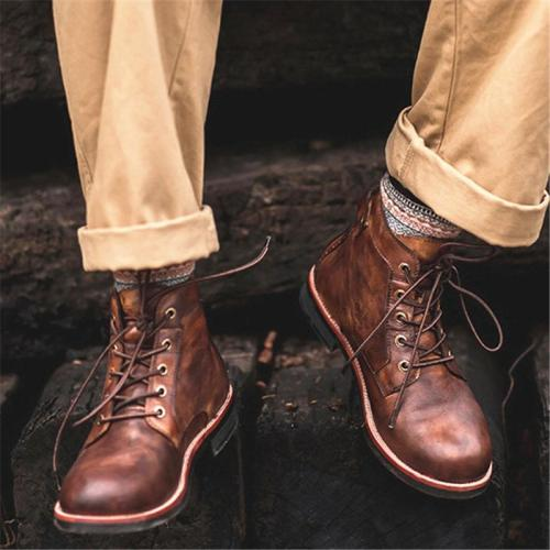 Classic Vintage Motorcycle Wearable Cargo Boots