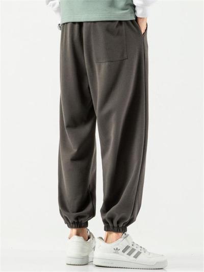 Plain Sports Comfy Pure Color Pants