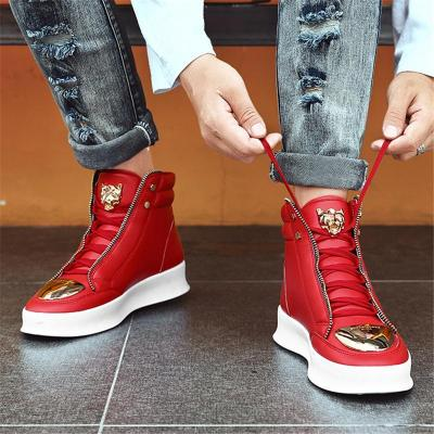 Fashion Breathable Mental Buckle Dancing High Top Boots