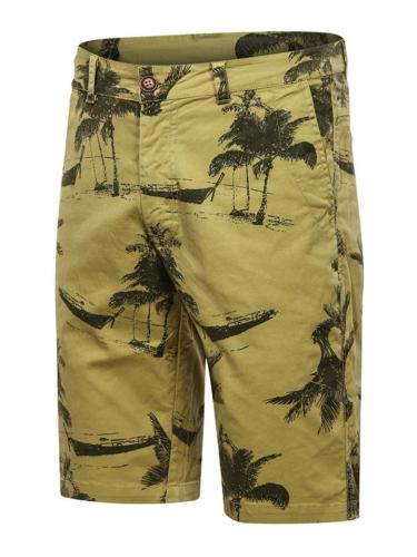 Casual Style Graphic Print Zipper Button Fastening Straight Leg Beach Shorts