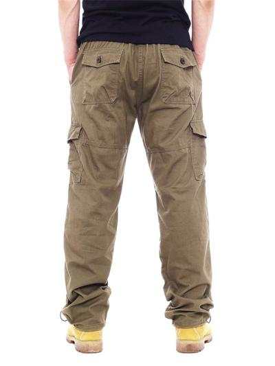 Loose Casual Classic Straight Cargo Pants With Pockets