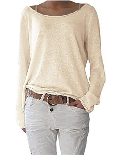 Relaxed Shape Heathered Straight Hem Lightweight Base Layer Tops