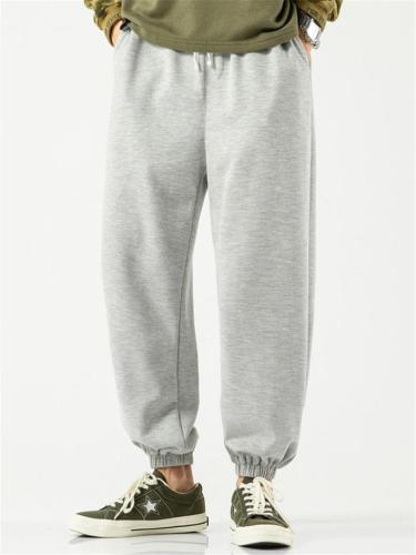 Plain Sports Comfy Pure Color Pants