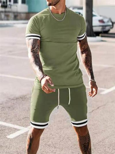 Comfy Sports Pure Color Fashion Short Sleeve T-Shirts+Shorts