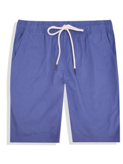 Casual  Breathable Loose Plain Sports Knee Shorts