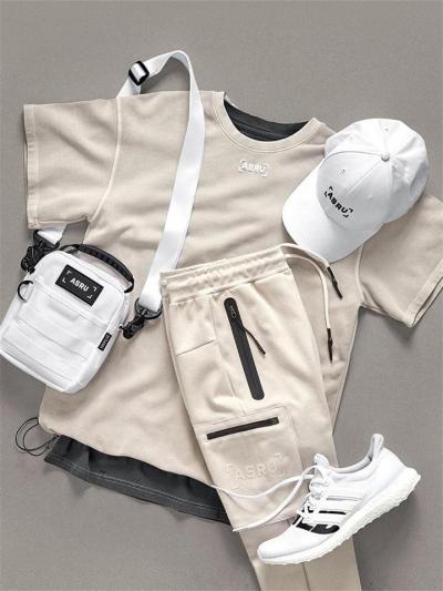 Soft Cotton Crew Neck Short Sleeve Drawtring Hem Running T-Shirt