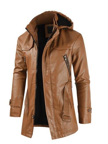 Fashion Pure Color Slim Fit Classic Warm Jackets