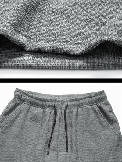 Loose Casual Knitted Short Sleeved T-Shirts+Pants