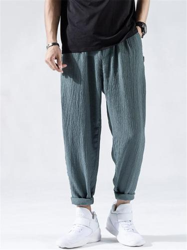 Lightweight Loose Casual Harem Ankle Pants