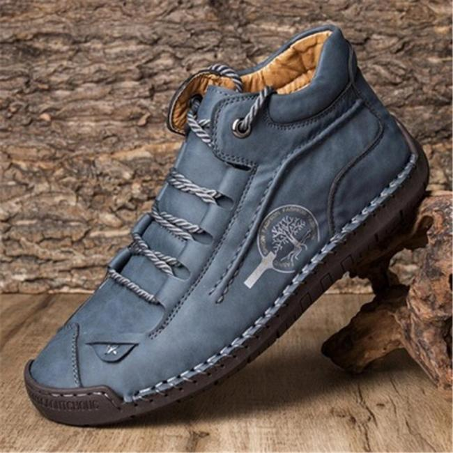 Vintage Casual Stitching Comfy Cargo Ankle Boots