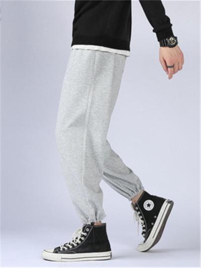 Plain Loose Sports Comfy Breathable Ankle Pants