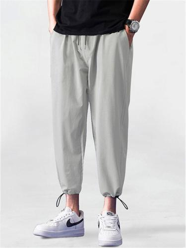 Plain Loose Sports Comfy Breathable Ankle Pants