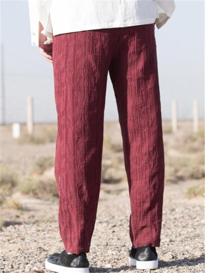 Loose Vintage Straight Jacquard Casual Pants