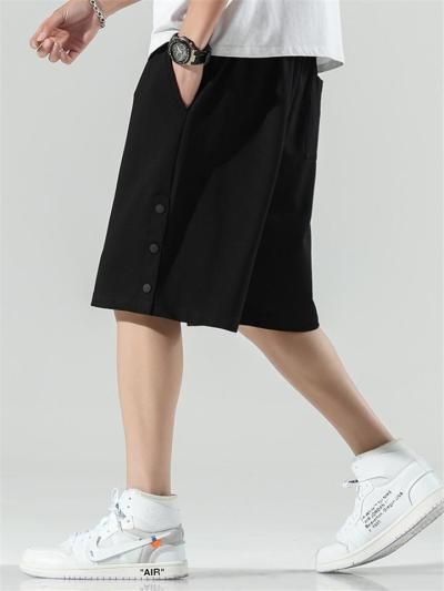 Sports Loose Breathable Buttons Casual Knee Shorts