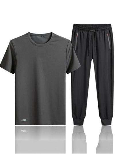 Sports Quick Dry Breathable Short Sleeved T-Shirts+Pants