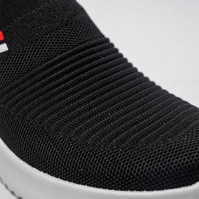 Feminine Contrast Design Mesh Detailing Stretch Fabric Lightweight Sneaker