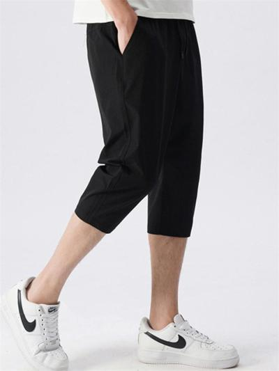 Slim Fit Comfy Casual Straight Cropped Trousers