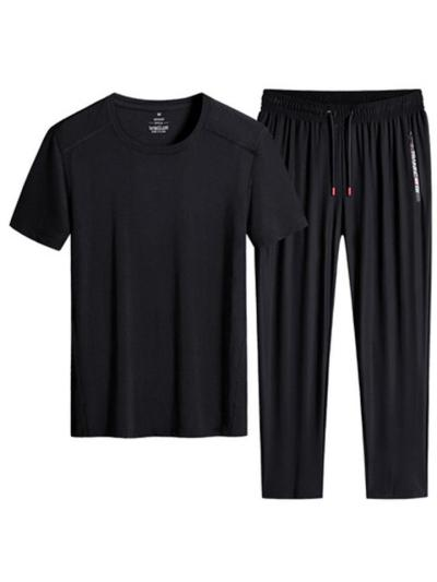 Sports Elastane Breathable Short Sleeved T-Shirts+Pants