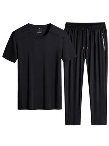 Sports Elastane Breathable Short Sleeved T-Shirts+Pants