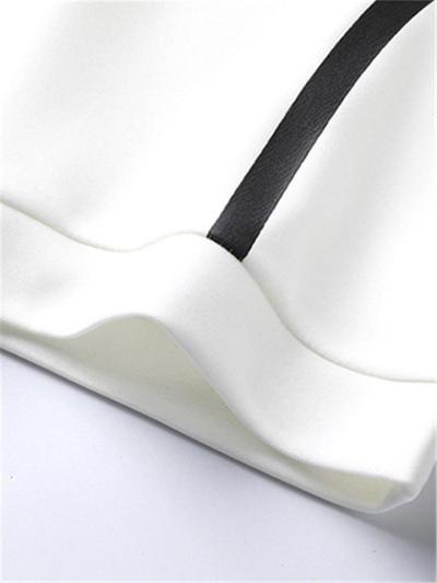 Sports Loose Stripe Breathable Short Sleeved Shirts+Pants