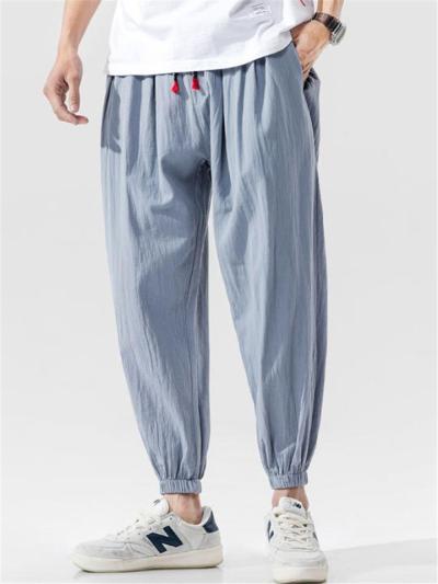 Mens Casual Comfy Loose Lightweight Harem Pants