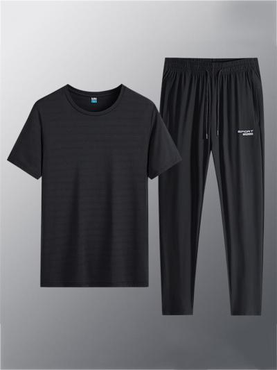 Quick Dry Breathable Casual Jogging Short Sleeved T-Shirts+Pants