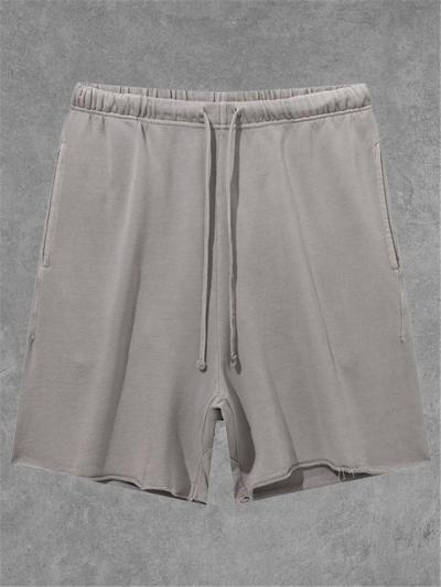 Personality Loose Casual Pure Color Knee Shorts
