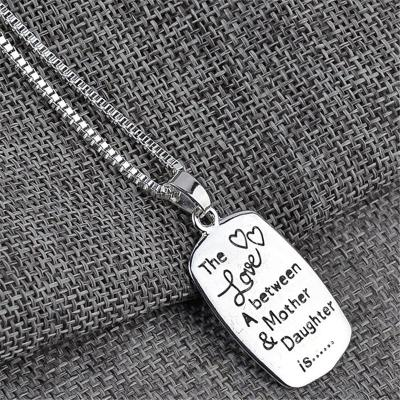 Mother's Day Gift Mother-Daughter Themed Lettering Pendant Necklace