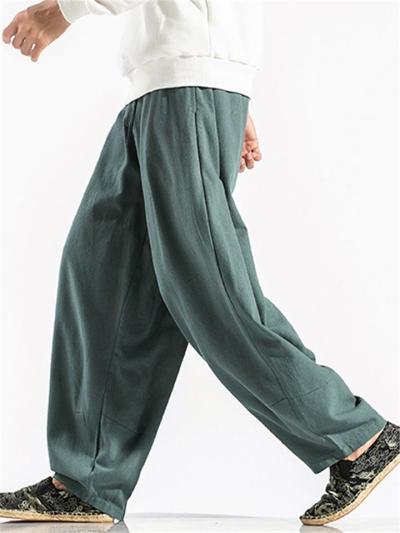 Baggy Straight Comfy Cotton&Linen Hip Hop Harem Pants