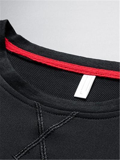 Script Print Comfy Jogging Casual Sports Long Sleeved T-Shirts+Pants