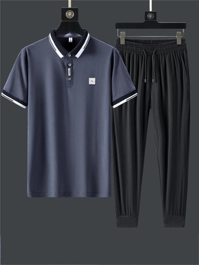 Sports Lightweight Casual Breathable Short Sleeved Shirts+Pants