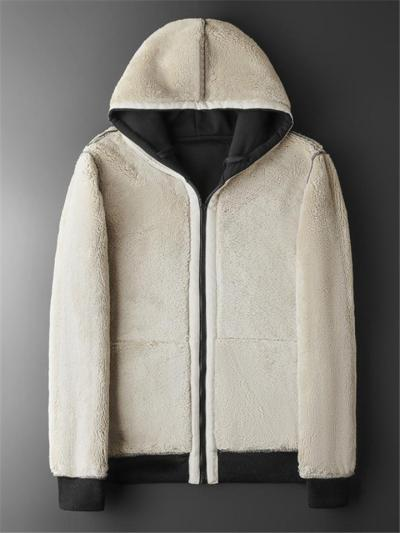 Warm Lining Pure Color Plain Open Front Hooded Coats
