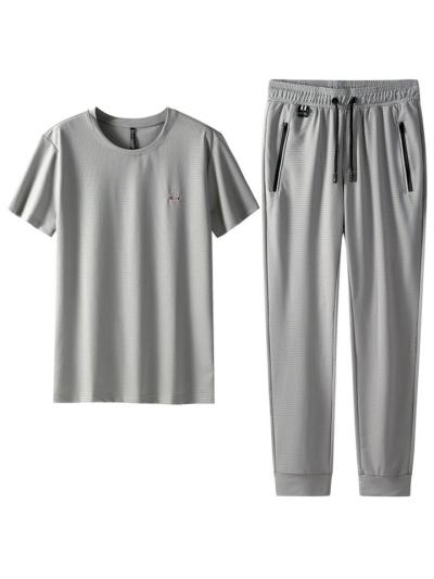 Breathable Lightweight Quick Dry Workout Short Sleeved T-Shirts+Pants