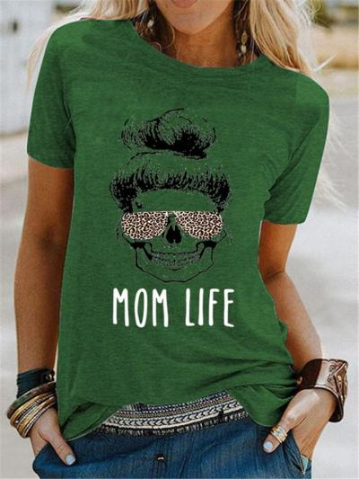 Mother's Day Gift Loose Fashion Casual Print Short Sleeve T-Shirts