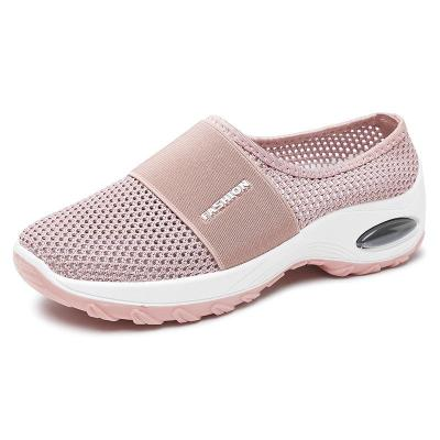 Slip-On Style Open Mesh Upper Rocker Bottom Durable Lightweight Shoes