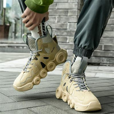Classic Look Streetwear Style Durable Solid Rubber Sole High-Top Training Shoes