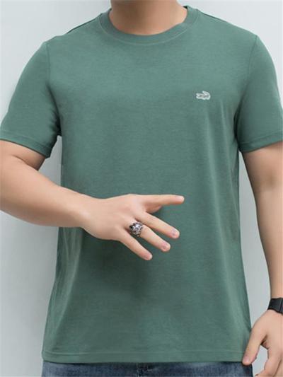 Streetwear Style Soft Cotton Relaxed Shape Straight Hem Crew Neck Basic T-Shirt